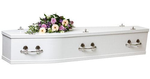 Adult MDF Coffin White Image